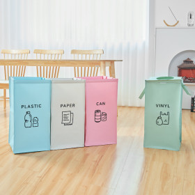 가정용 재활용 분리수거함 4P 대형/ 비닐 쓰레기 봉투