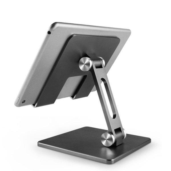 휴대용 태블릿 패드 휴대폰 알루미늄 거치대 그레이 상품이미지
