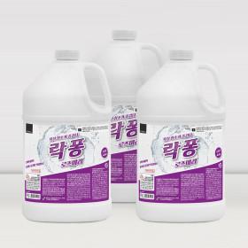 락퐁 4Lx3개 욕실세제 화장실 청소 로즈마리향