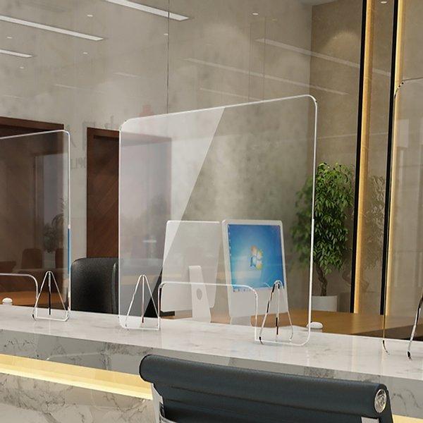 세이프 투명 아크릴 칸막이(40x50cm) 오픈 창구형 상품이미지