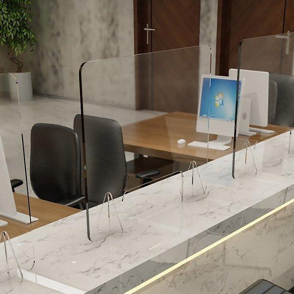 세이프 투명 아크릴 칸막이(40x40cm) 오픈 창구형 상품이미지