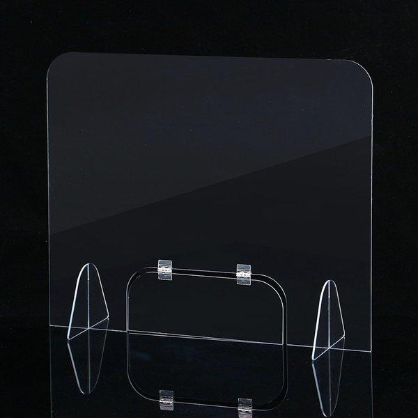 세이프 투명 아크릴 칸막이(50x50cm) 창구형가림막 상품이미지