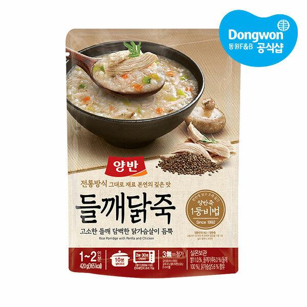 (현대Hmall) 동원  양반죽 들깨닭죽 420g x20개 /파우치죽/즉석죽 상품이미지