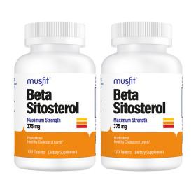 2개 머스핏 베타시토스테롤 375 mg 맥시멈 스트렝스 120 타블렛 Musfit 빠른직구