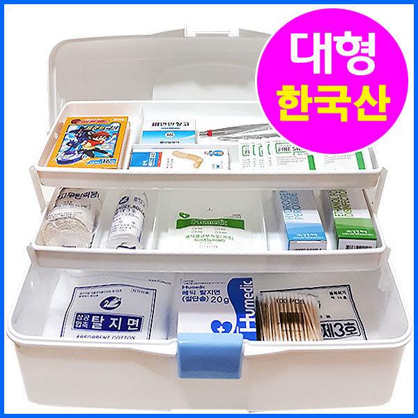 한국산 3단 스피드 구급함(대형)/구급상자/구급함세트 상품이미지