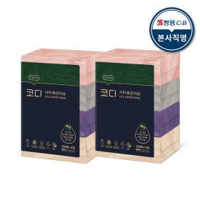 코디 시카 로션 티슈 200매 4입 2팩