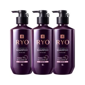 RYO Jayang Hair Loss Expert Care SHAMPOO (for dry scalp) 400ml x 3pcs Special Set