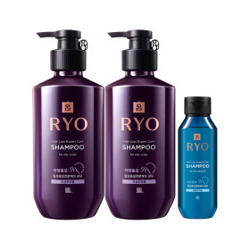 RYO Jayang 9EX Hair Loss Expert Care SHAMPOO(for oily scalp) 400ml x 2 +Giveaway