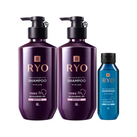 RYO Jayang 9EX Hair Loss Expert Care SHAMPOO(for dry scalp)400ml x 2 +Giveaway