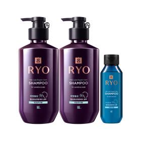 RYO Jayang 9EX Hair Loss Expert Care SHAMPOO(for sensitive scalp)400ml x 2 +Giveaway