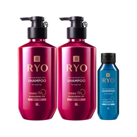 RYO Jayang 9EX Hair Loss Expert Care Shampoo(for weak hair)400ml x 2 +Giveaway