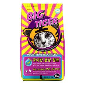 빅타이거 전연령 고양이 사료 5KG 국내산 홍삼 함유