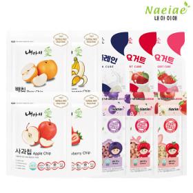 Xylitol Fruit ring snack 10-item set+Freeze-drying fruit 5-item set-A+Yogurt and fruit 5-item set