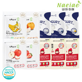 Xylitol Fruit ring snack 10-item set+Freeze-drying fruit 5-item set-B+Yogurt and fruit 5-item set