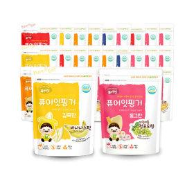 Finger Fruit Stick Fruit Ring Rice Snack 30-pack Set