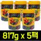 쥬시 스트로우 과일맛 젤리 817g x 5팩/트로피칼바
