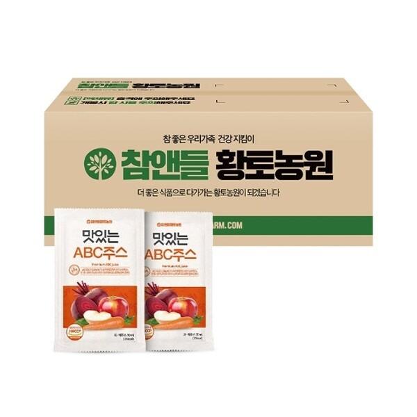 참앤들황토농원  맛있는 abc주스 100포(실속포장) 상품이미지