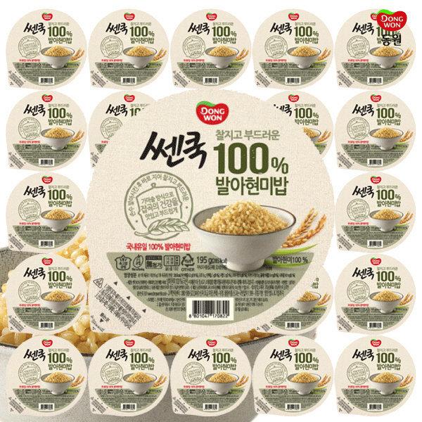 동원 쎈쿡 100% 발아현미밥 195g x 30 (30개) /즉석밥 상품이미지
