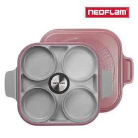 4-compartment Steam Oven Pan Induction Available Steam Plus Pan (Demer Pink)