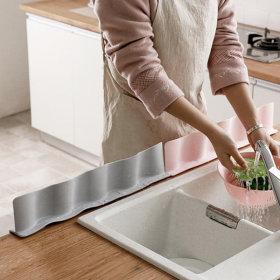 실리콘 싱크대 물막이 설거지 흡착 물튀김 방지