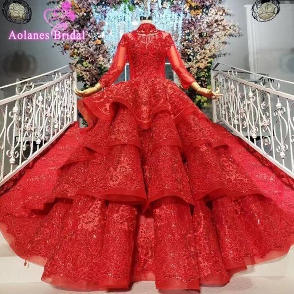 여성드레스 파티복   빨간 공 가운 댄스 파티 드레스 상품이미지