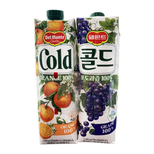 롯데칠성 콜드오렌지1L+포도1L 상품이미지