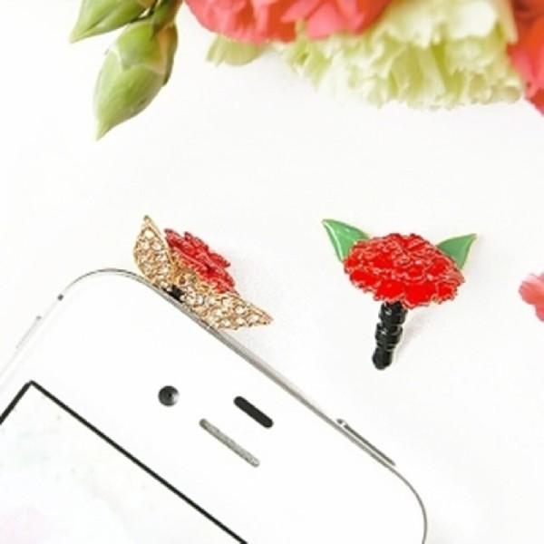 건망증 카네이션 이어캡 휴대폰이어폰마개 스마트폰이 상품이미지