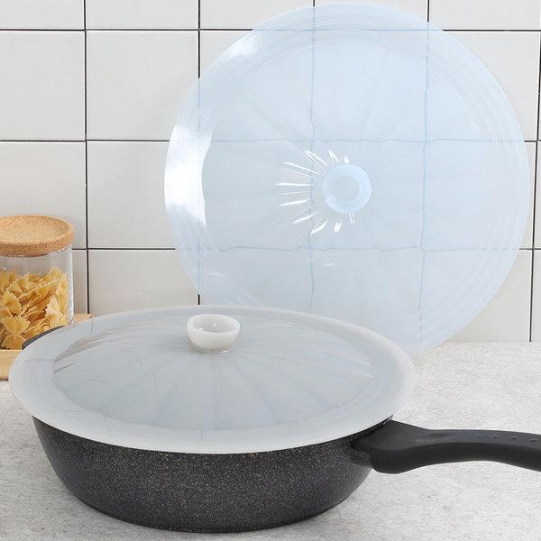 국산 실리콘뚜껑 후라이팬뚜껑 후라이팬덮개 상품이미지