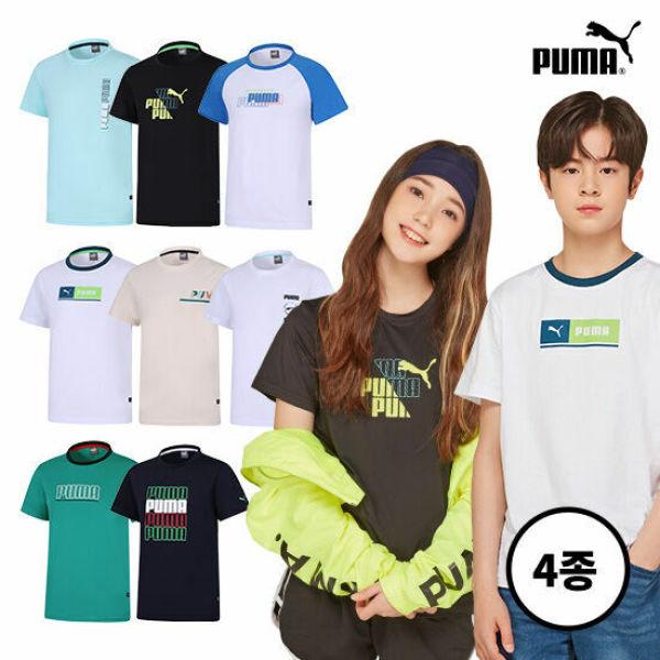 공용)푸마 청소년 썸머 데일리 티셔츠 4종 상품이미지