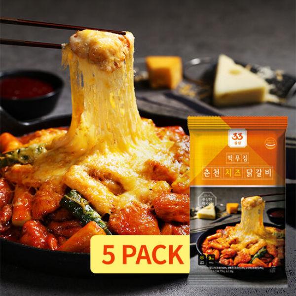 33 떡푸짐 춘천 치즈 닭갈비 530g X 5 세트 ( 2 650g 상품이미지