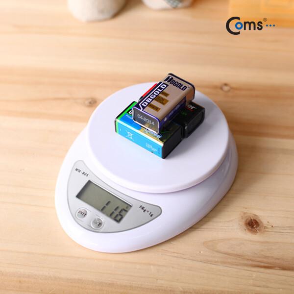 Coms BE054 주방용 소형 저울 WH-B05 1g~1kg 전자 저 상품이미지