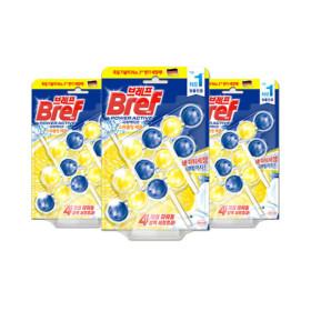 브레프 파워액티브 3.0 레몬향 3P x3개 변기세정제