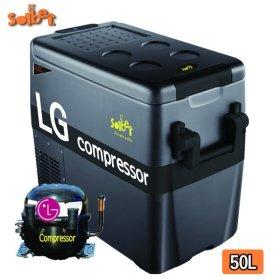 몬스터 블랙 New LG 콤프레셔 50L 차량용 냉장고냉동고 캠핑냉장고 이동식냉장고 아이스박스 하드쿨러
