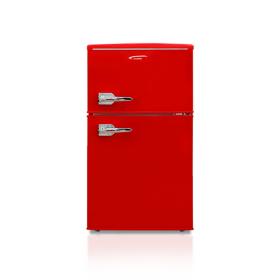 진우전자 레트로 원룸 가정용 소형 냉장고 JWBCD-95R