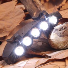 LED5구캡라이트/낚시 등산 자전거 모자렌턴 모자라이