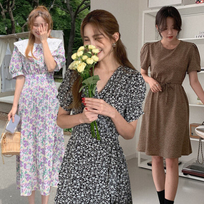(Same day shipping out)Summer vacation best shot goddess style dress/vacation look