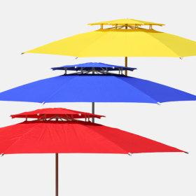 2층 국산 초대형 파라솔 세트 야외 테이블 캠핑 용품