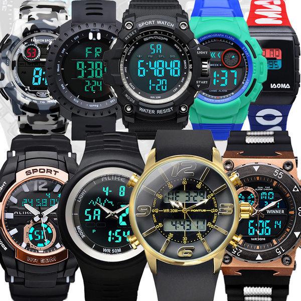 방수 전자시계 스포츠 전자손목시계 군용시계 군인 상품이미지