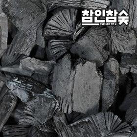 참인참숯 구이용 캠핑장작 바베큐 참숯 백탄 3kg 중
