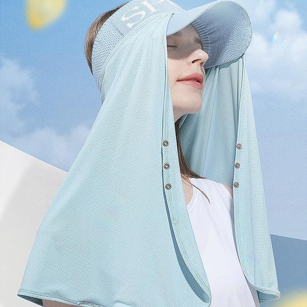 모자 롱 햇빛가리개 얼굴 숄더커버 선가드 자외선차단 상품이미지