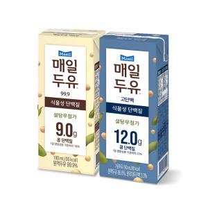 매일두유 검은콩 190ml 24팩+고단백 190ml 24팩/두유