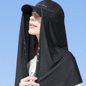 모자 롱 햇빛가리개 얼굴 숄더커버 선가드 자외선차단