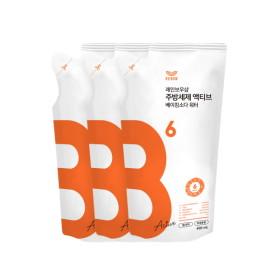 [레인보우샵] 주방세제 베이킹소다 워터 액티브 420g 리필x3
