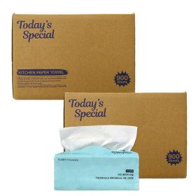 100% natural pulp 3ply kitchen paper towel 100pcs X 18 packs 1800pcs Toxic Free / Non OBA