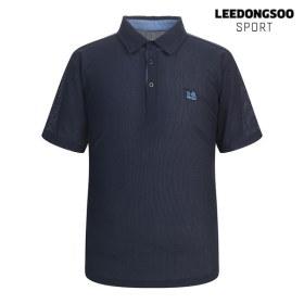 [이동수스포츠] [하프클럽/이동수]이동수 골프웨어 여름 남성 허니컴 반팔 피케 티셔츠 네이