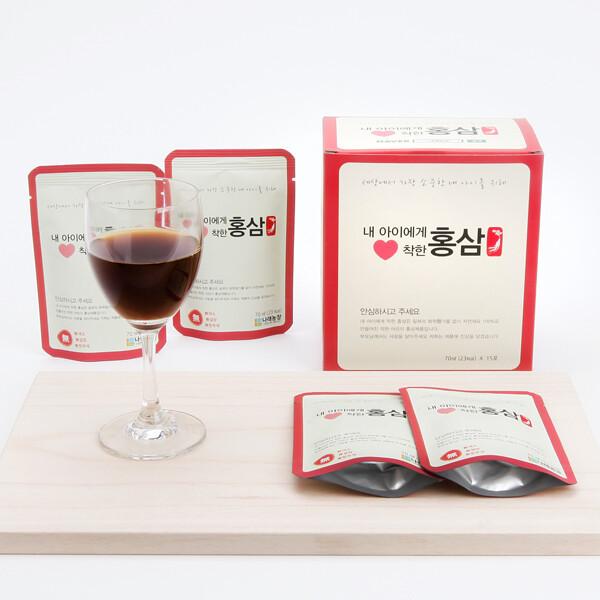 나래농장 내몸에착한홍삼액 어린이용/국내산/70ml 30포(1박스)/직접재배 상품이미지