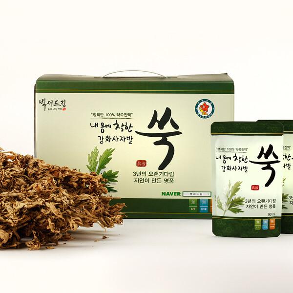 강화약쑥 내몸에 착한 강화사자발쑥 진액/국내산/90ml 60포(1박스)/직접농사 재배로 정성가득 상품이미지