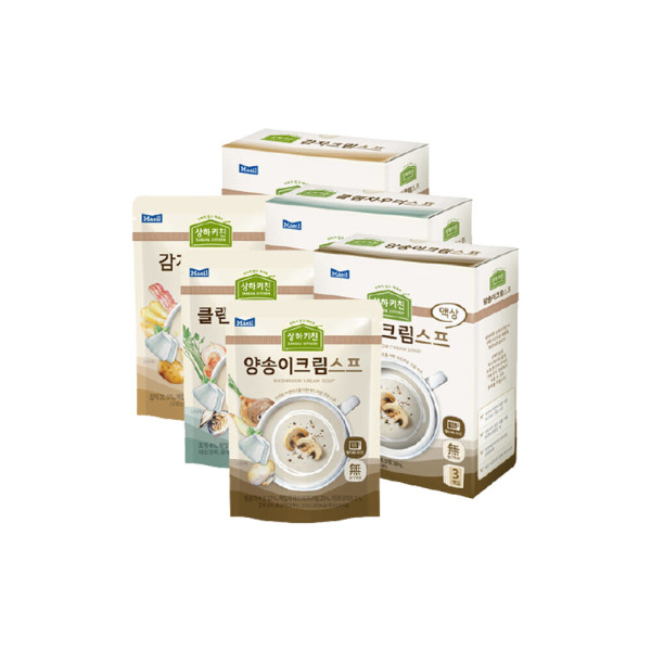 슬로우키친 스프3종 각3팩(양송이+클램차우더+감자) 상품이미지