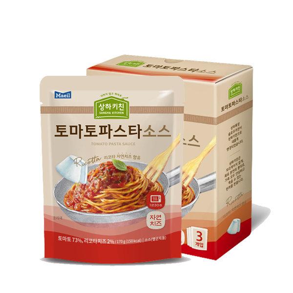 상하목장 슬로우키친파스타 토마토 170G 3팩 상품이미지