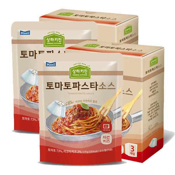 상하목장 슬로우키친파스타 토마토 170G 6팩 상품이미지